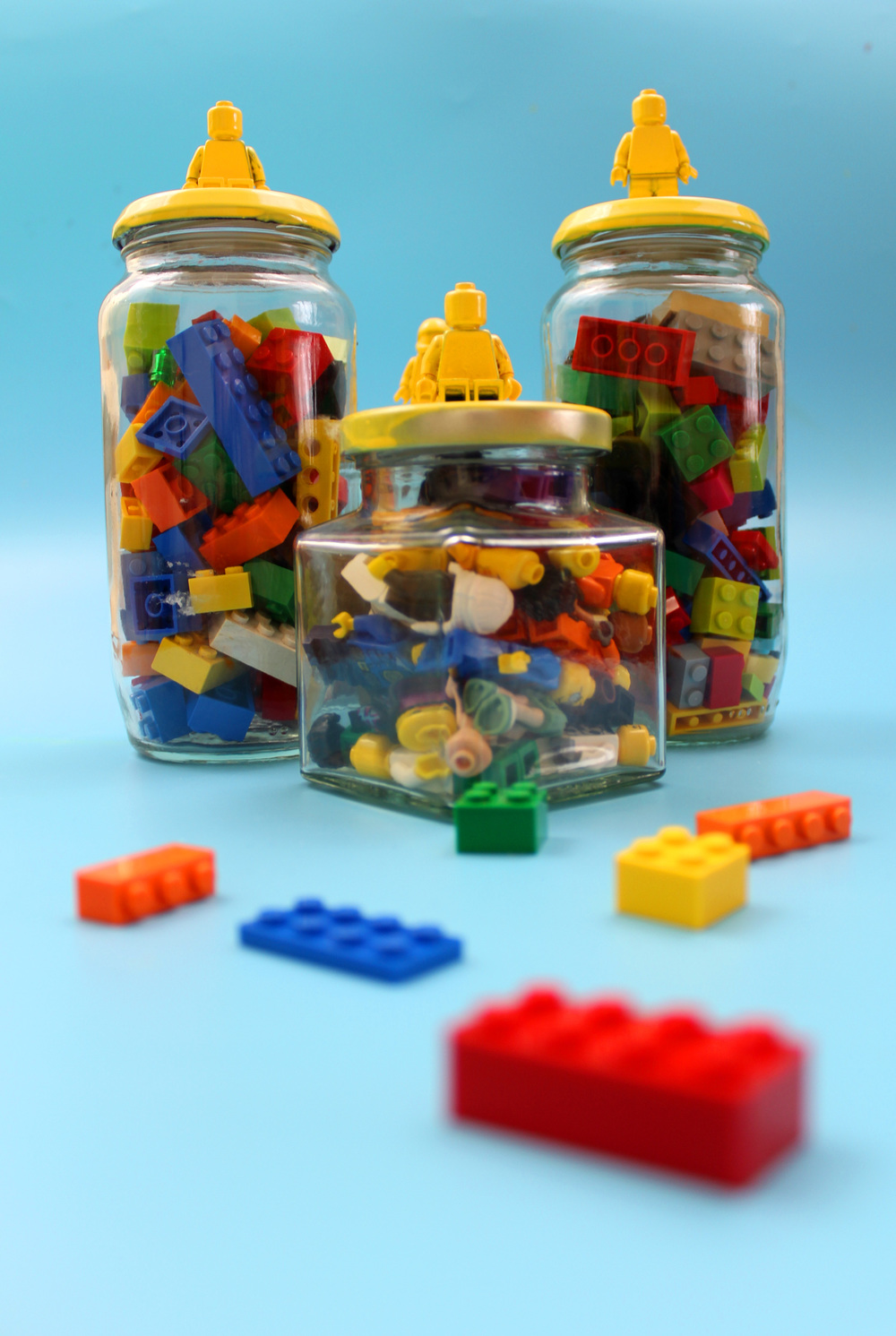 how to make lego storage jars