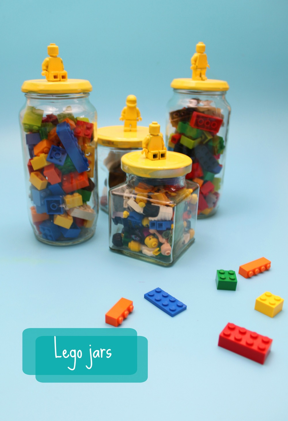 How to make a lego storage jar diy