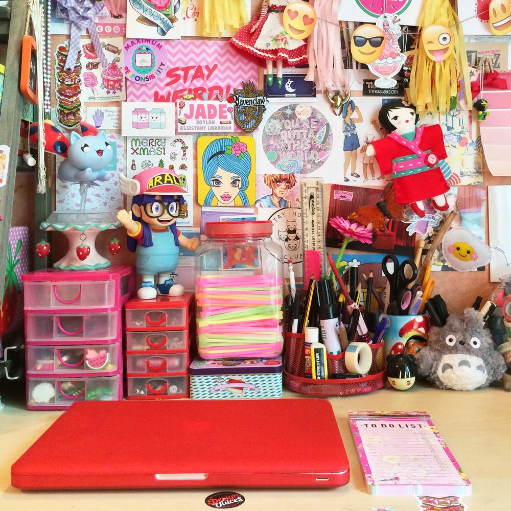 Jade's work area