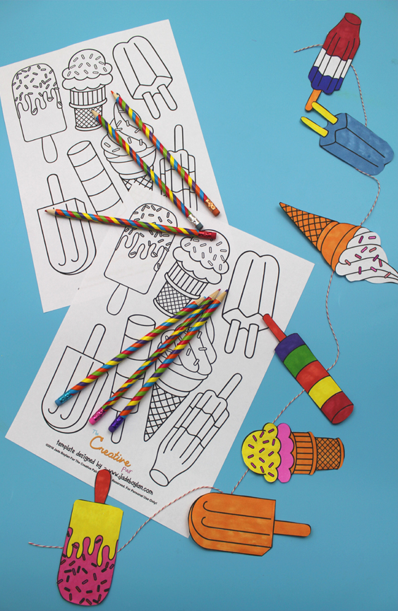 free ice cream and ice lolly printable