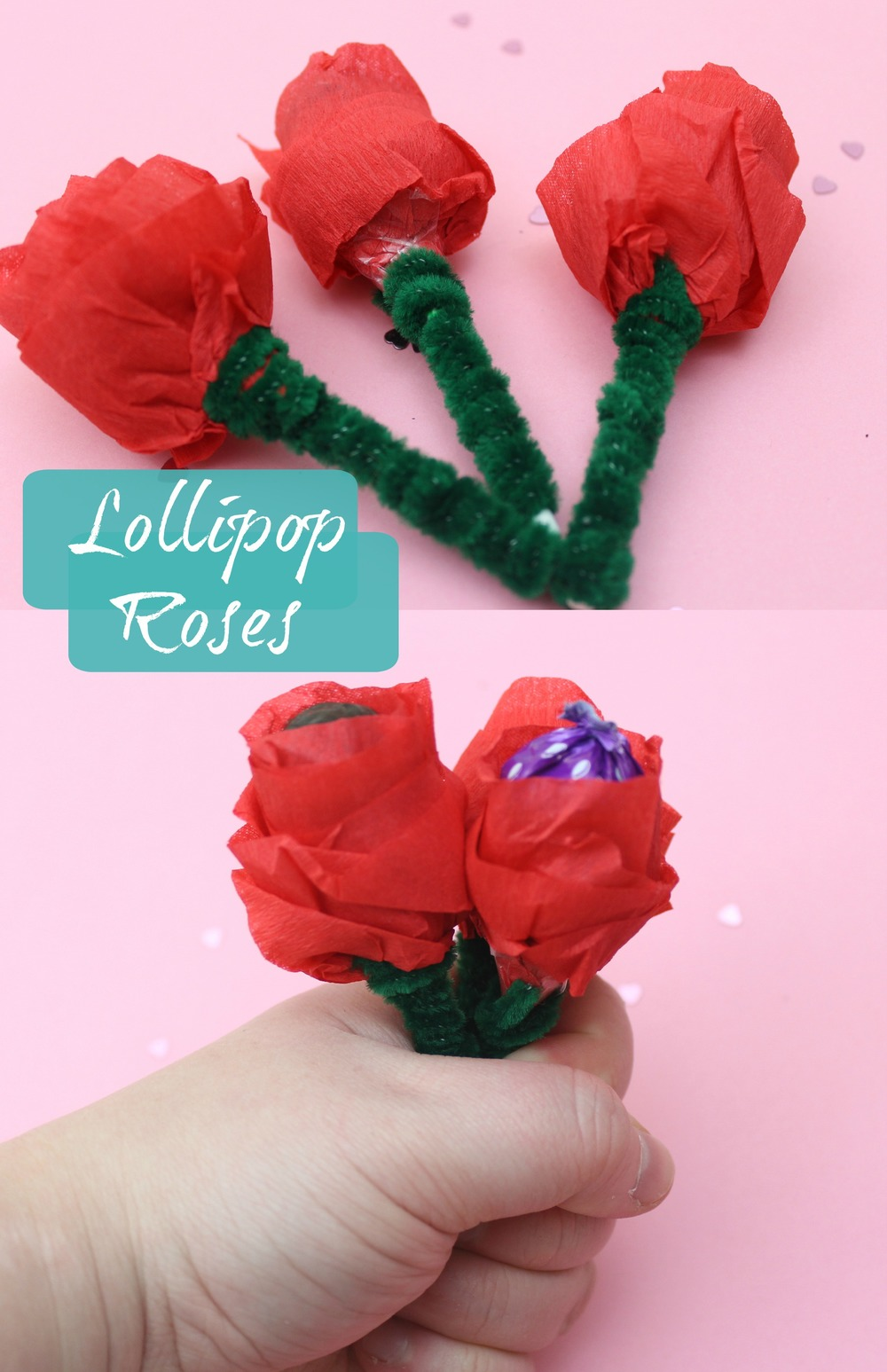 how to make lollipop roses