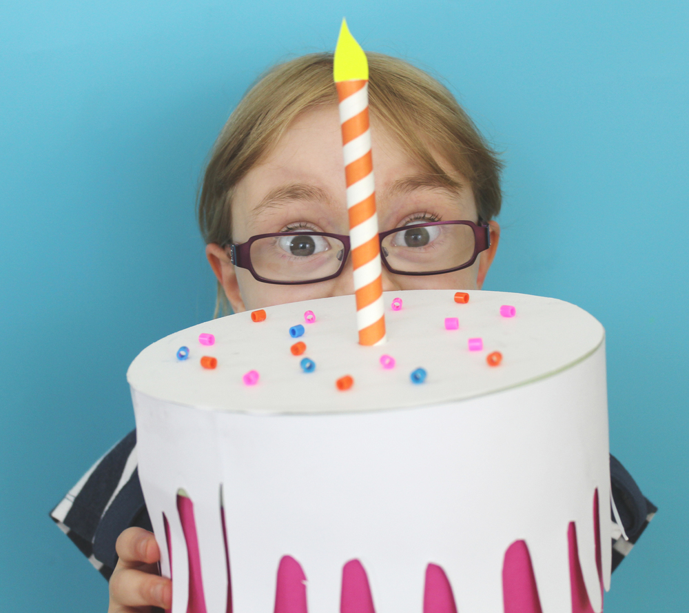 make a cake box birthday craft
