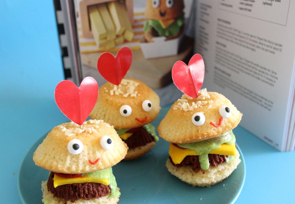 baked burger cupcakes