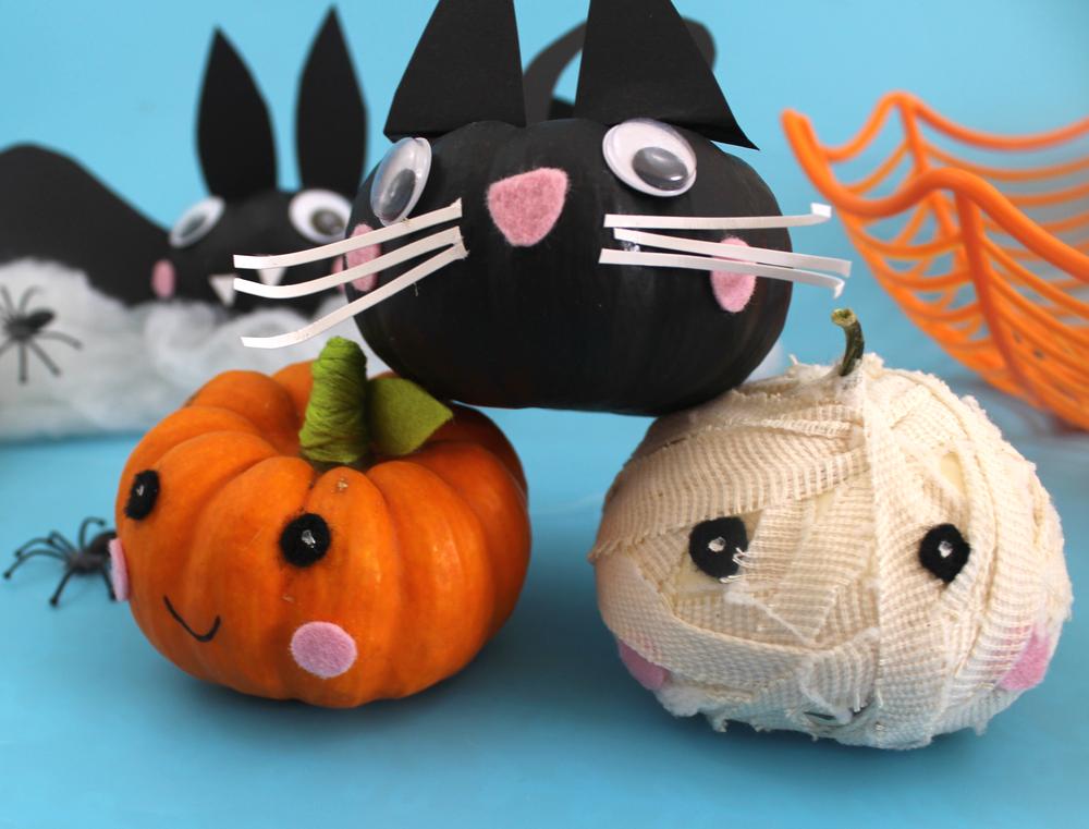 cute pumpkins no carve