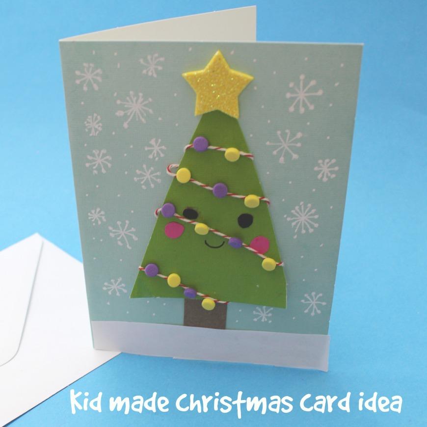 kid made christmas card