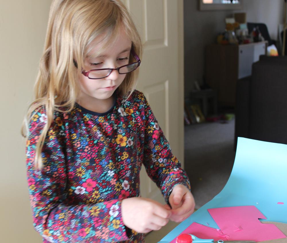 making a kid made christmas card