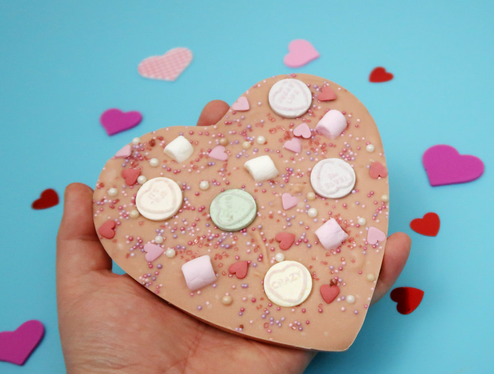 valentines heart bark