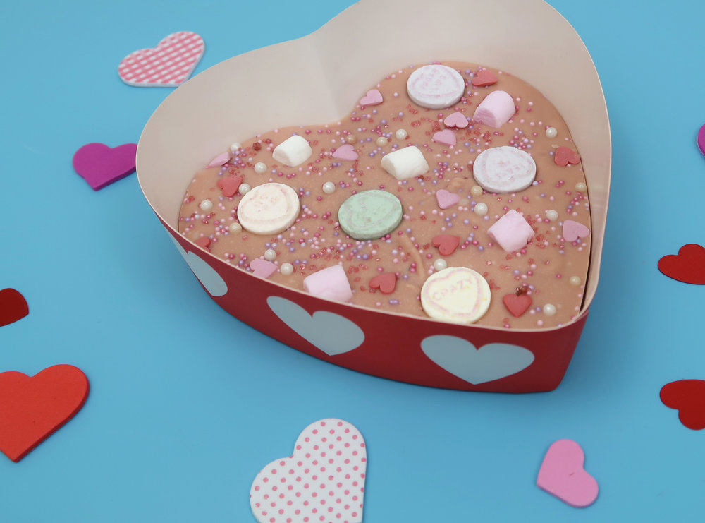 how to make valentines heart bark