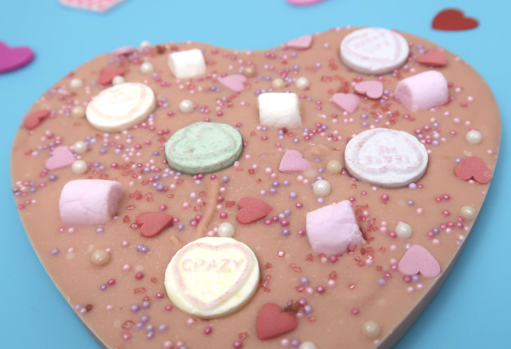 how to make Valentine's bark