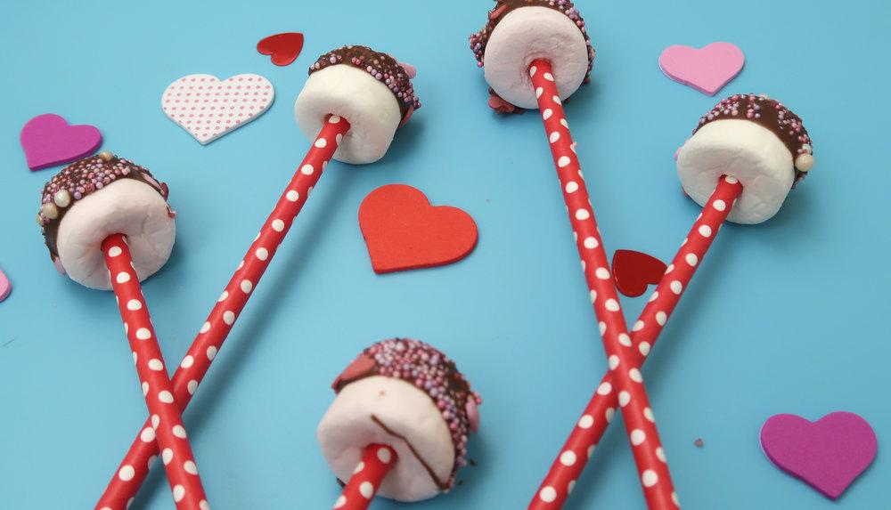 valentines marshmallow pops