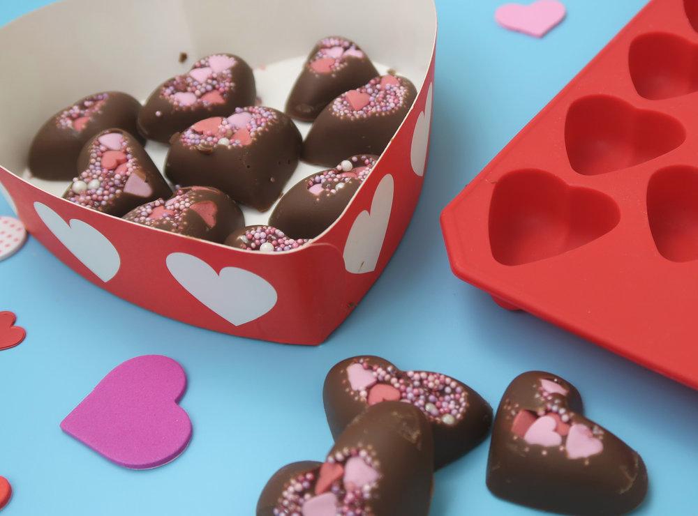 How to make chocolate valentine's treats