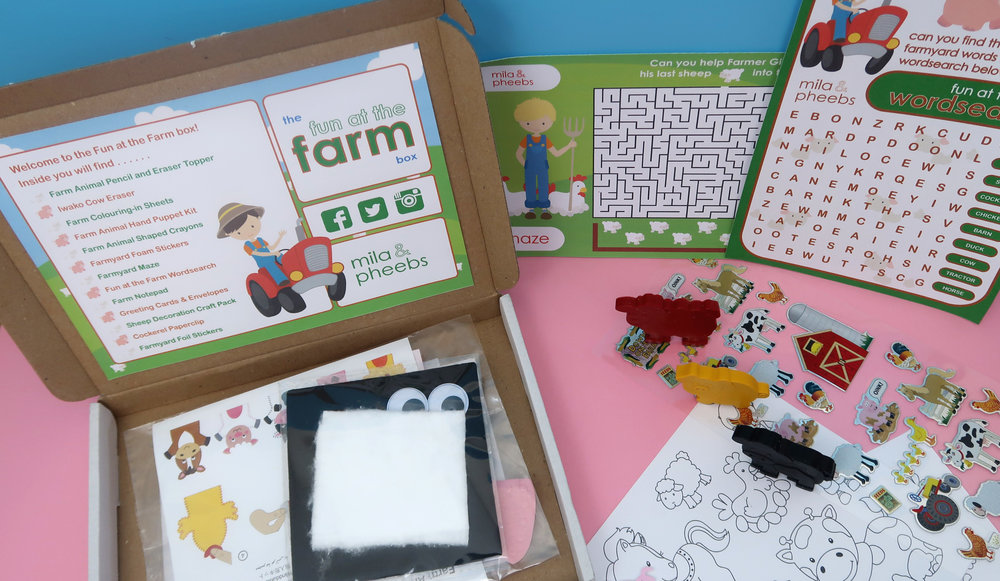 Mila and pheebs subscription box - farm box