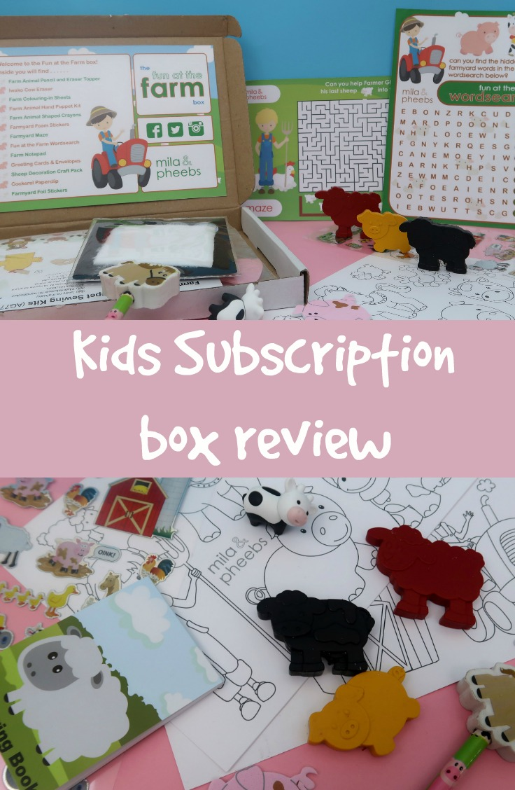 kids subscription box review, mila and pheebs
