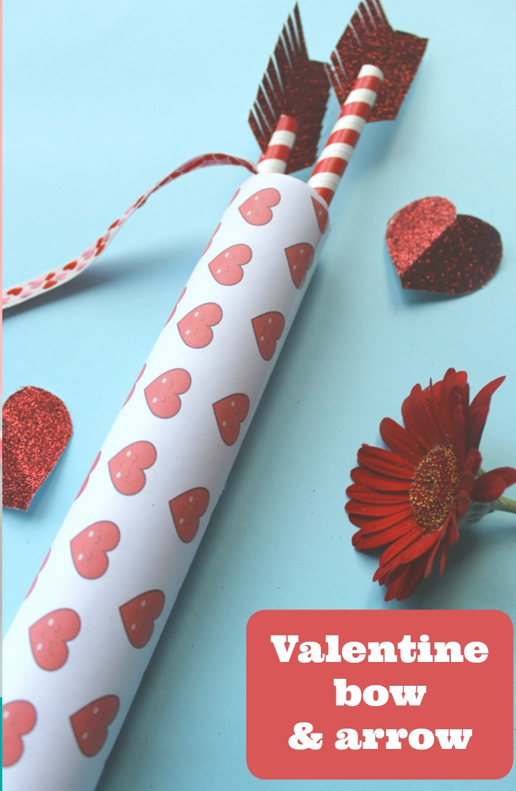 make a valentines bow and arrow