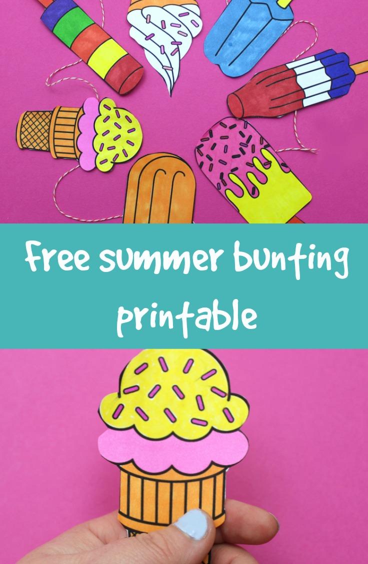 summer bunting printable