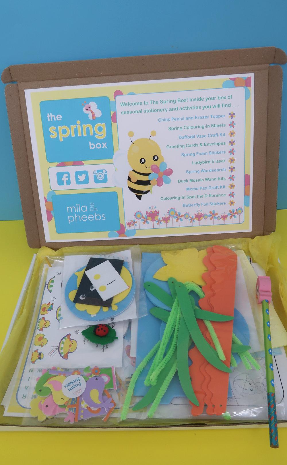 mila and pheebs spring box