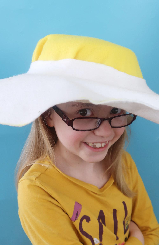 Fried egg easter bonnet hat