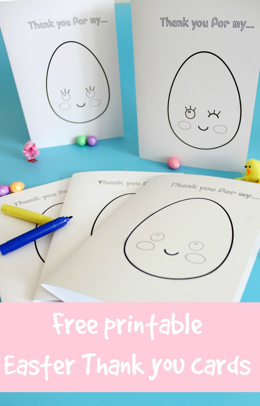 free easter printable thank you cards