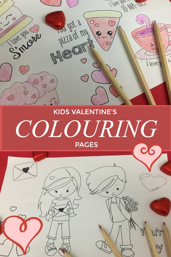 FREE KIDS VALENTINES COLOURING IN