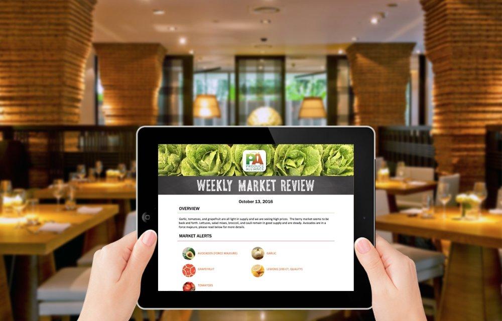 Market Report iPad Screenshot