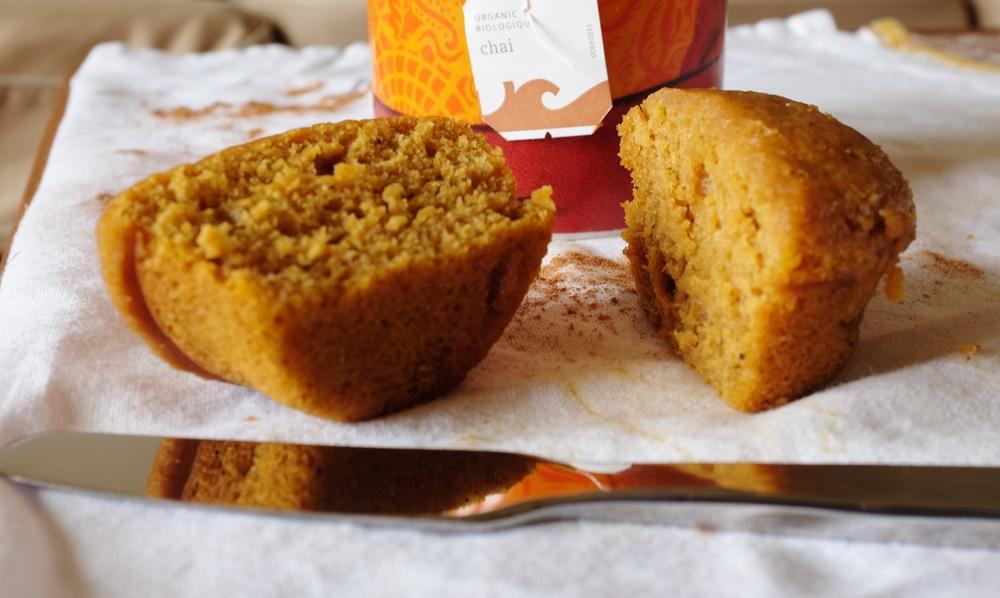pumpkin chai muffins