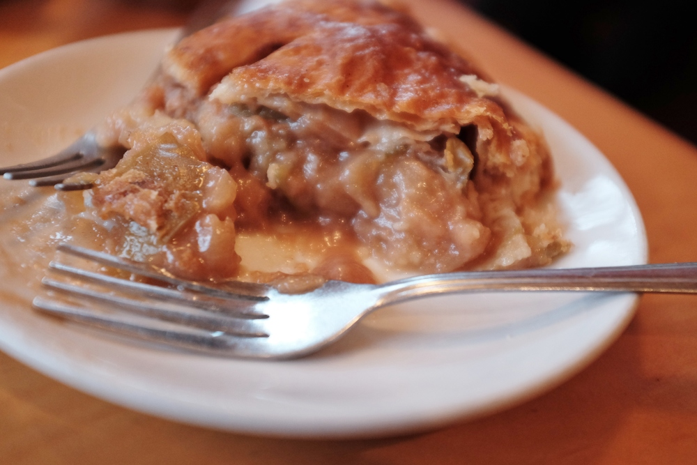 Vanilla Sugar Salted Caramel Apple Pie at  Random Order Coffeehouse and Bakery