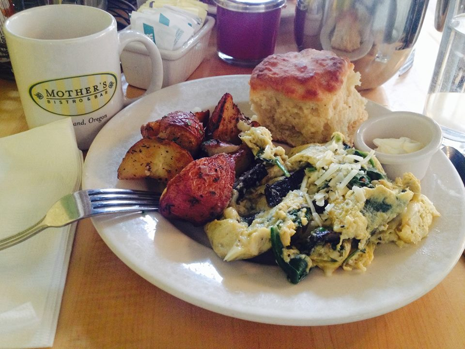 Grilled Portabello Mushroom Scramble at  Mother's Bistro