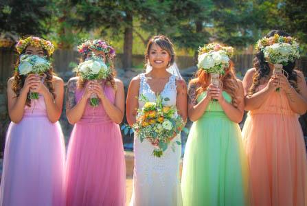 Pastel color bridesmaid dresses