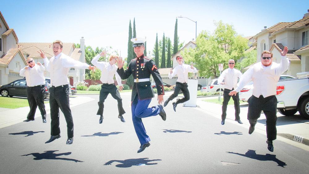Groomsmen jump picture