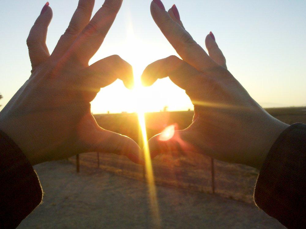 Heart Hands Sun