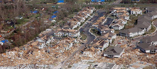 Hurricane Katrina destruction in Mississippi