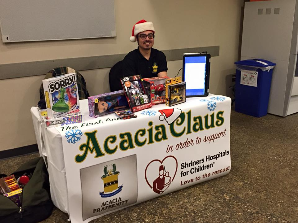 Illinois State Chapter Tabled to Collect Toys for Acacia Claus