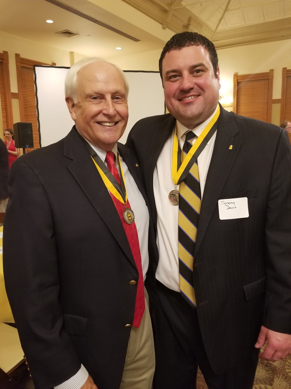 Past National President John Hoffner, Purdue '66 and International President Jeremy Davis, Iowa State '00