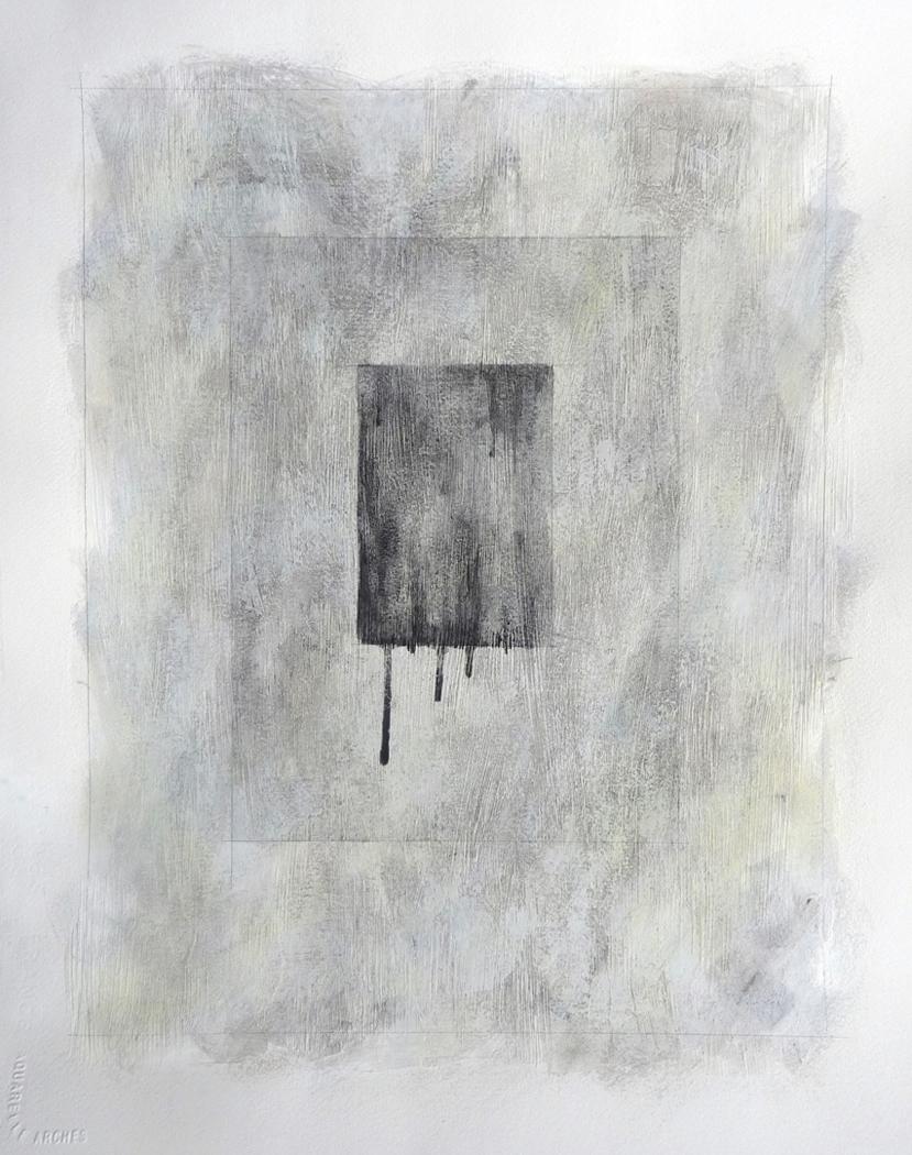 Santa Monica : Dharavi II, 2010. Mixed media on paper. 20 x 16 inches (50.8 x 40.6 cm)