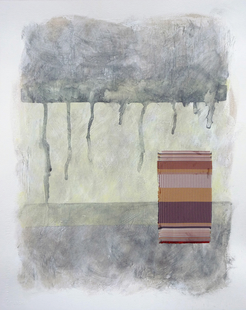 Japanese Silk,  2010.  Mixed media on paper. 20 x 16 inches (50.8 x 40.6 cm)