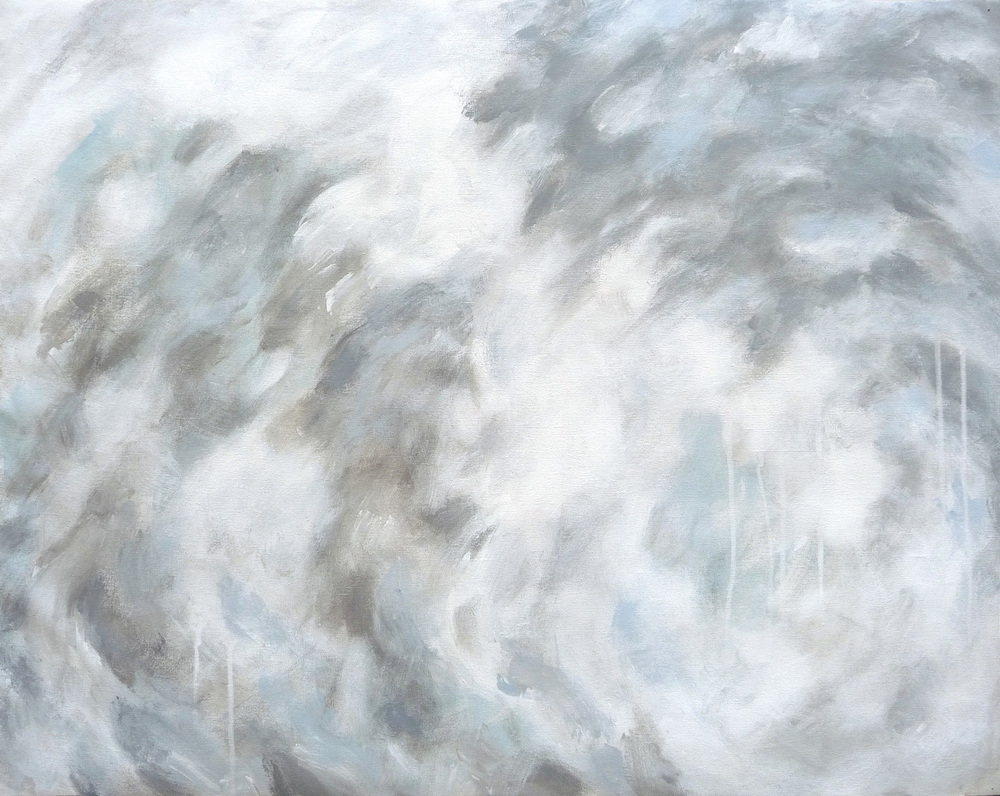 Svinøya Whiteout  , 2016. Acrylic on canvas. 24 x 32 inches (60.9 x 81.3 cm)
