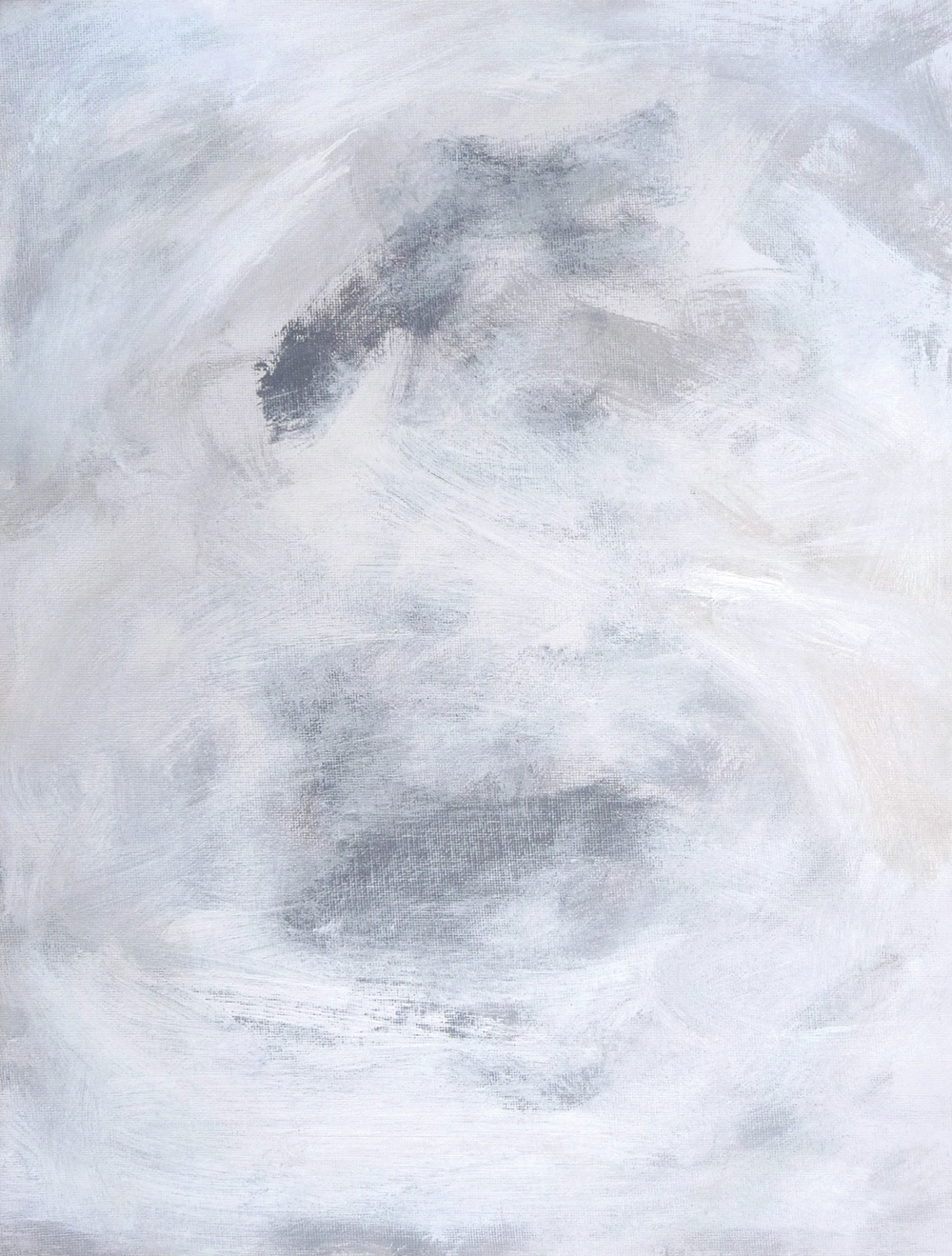 Whiteout    ,   2016. Acrylic on canvas. 16 x 12 inches (40.6 x 30.5 cm)