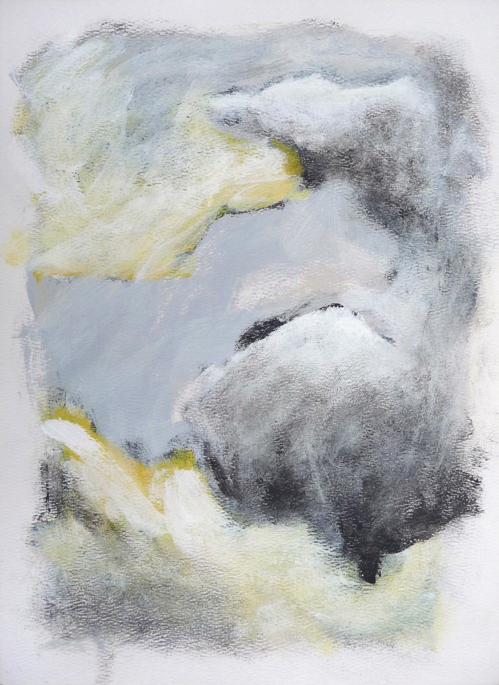 Dawn from Kunstnerhuset    ,   2016. Acrylic and charcoal on paper. 15 x 11 inches (38.1 x 27.9 cm)