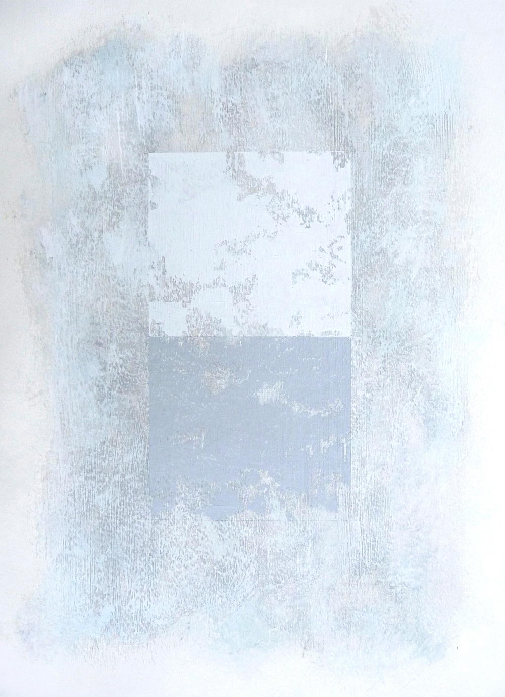 Svinøya in White I  , 2016. Mixed media on paper. 15 x 11 inches (38.1 x 27.9 cm)