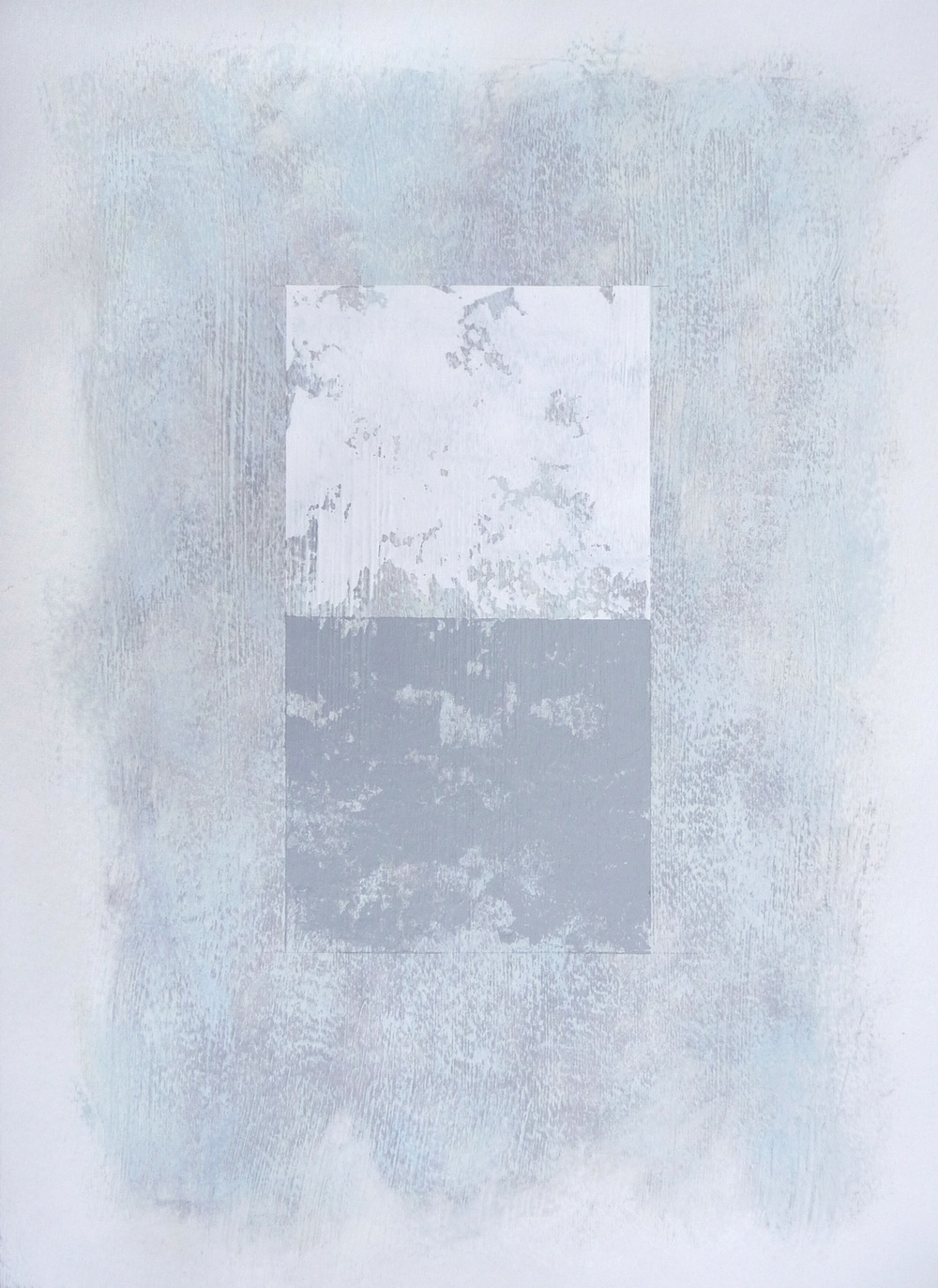Svinøya in White II  , 2016. Mixed media on paper. 15 x 11 inches (38.1 x 27.9 cm)