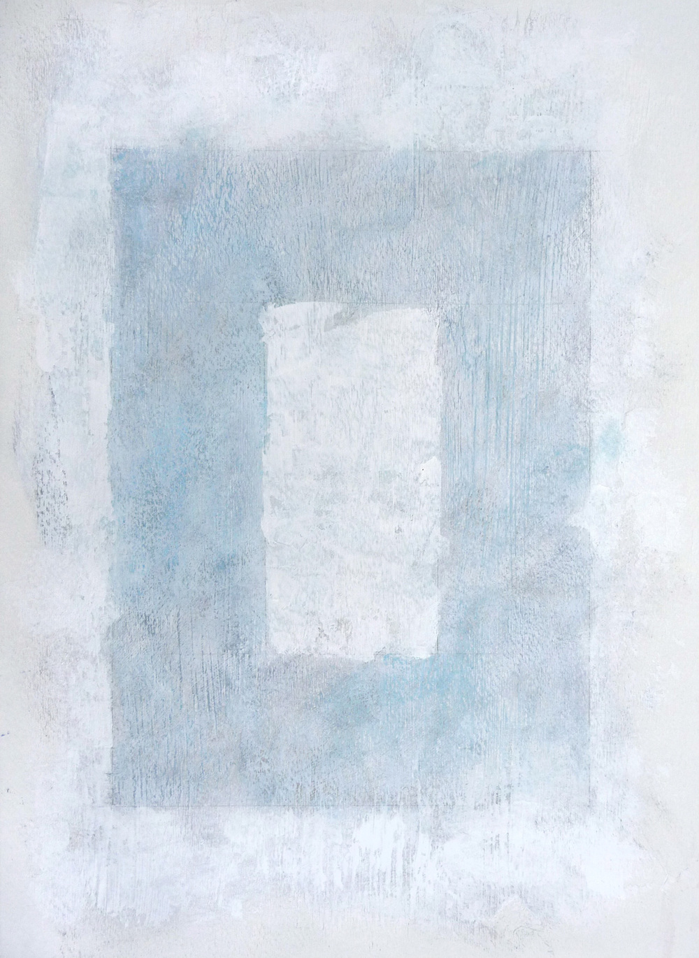Svinøya in White IV  , 2016. Mixed media on paper. 15 x 11 inches (38.1 x 27.9 cm)