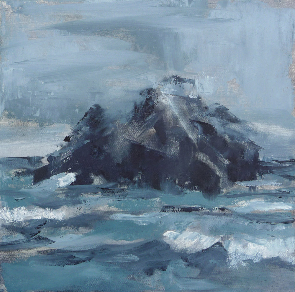 Seal Rock  , 2016. Oil on canvas. 12 x 12 inches (30.5 x 30.5 cm)
