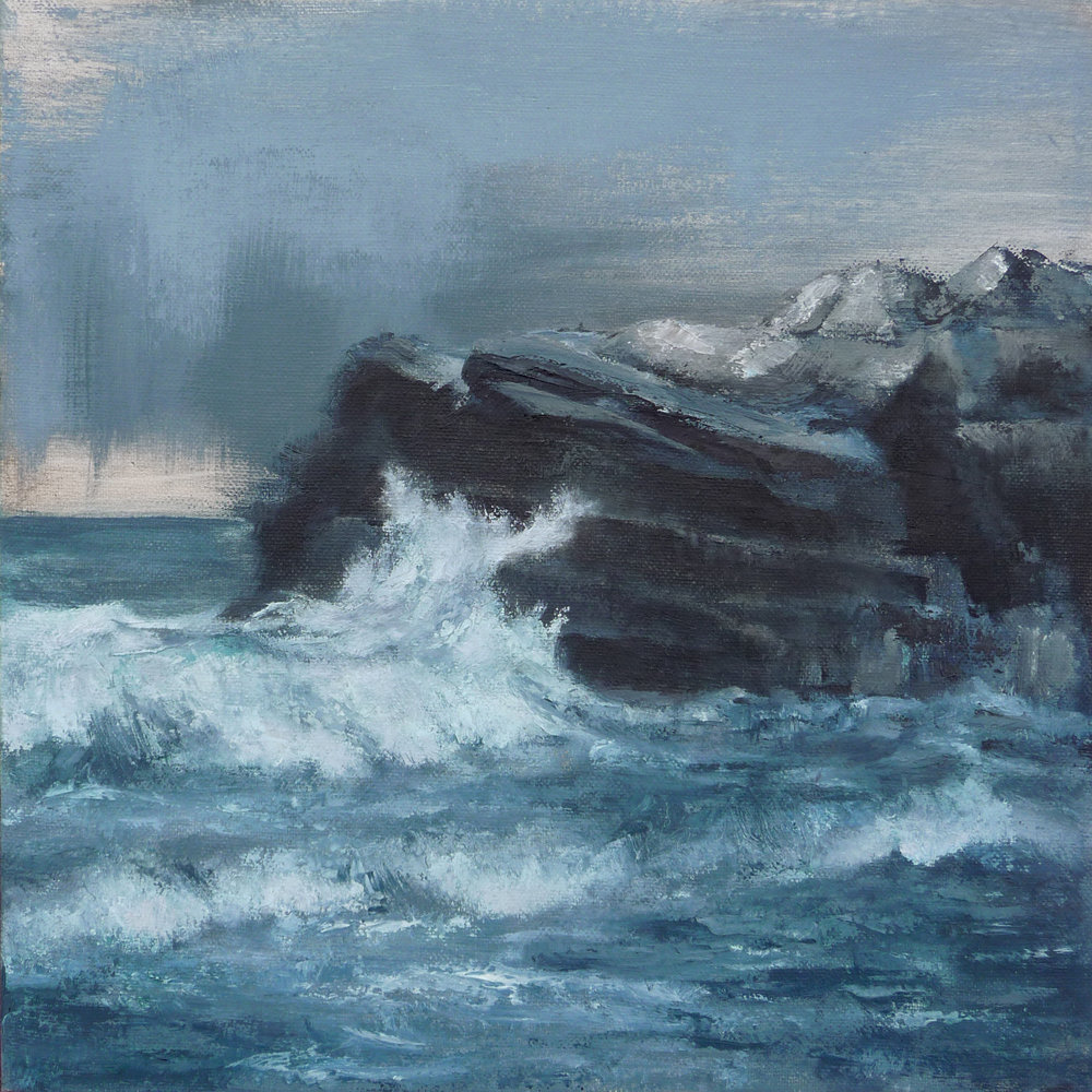 High Tide  , 2016. Oil on canvas. 12 x 12 inches (30.5 x 30.5 cm)