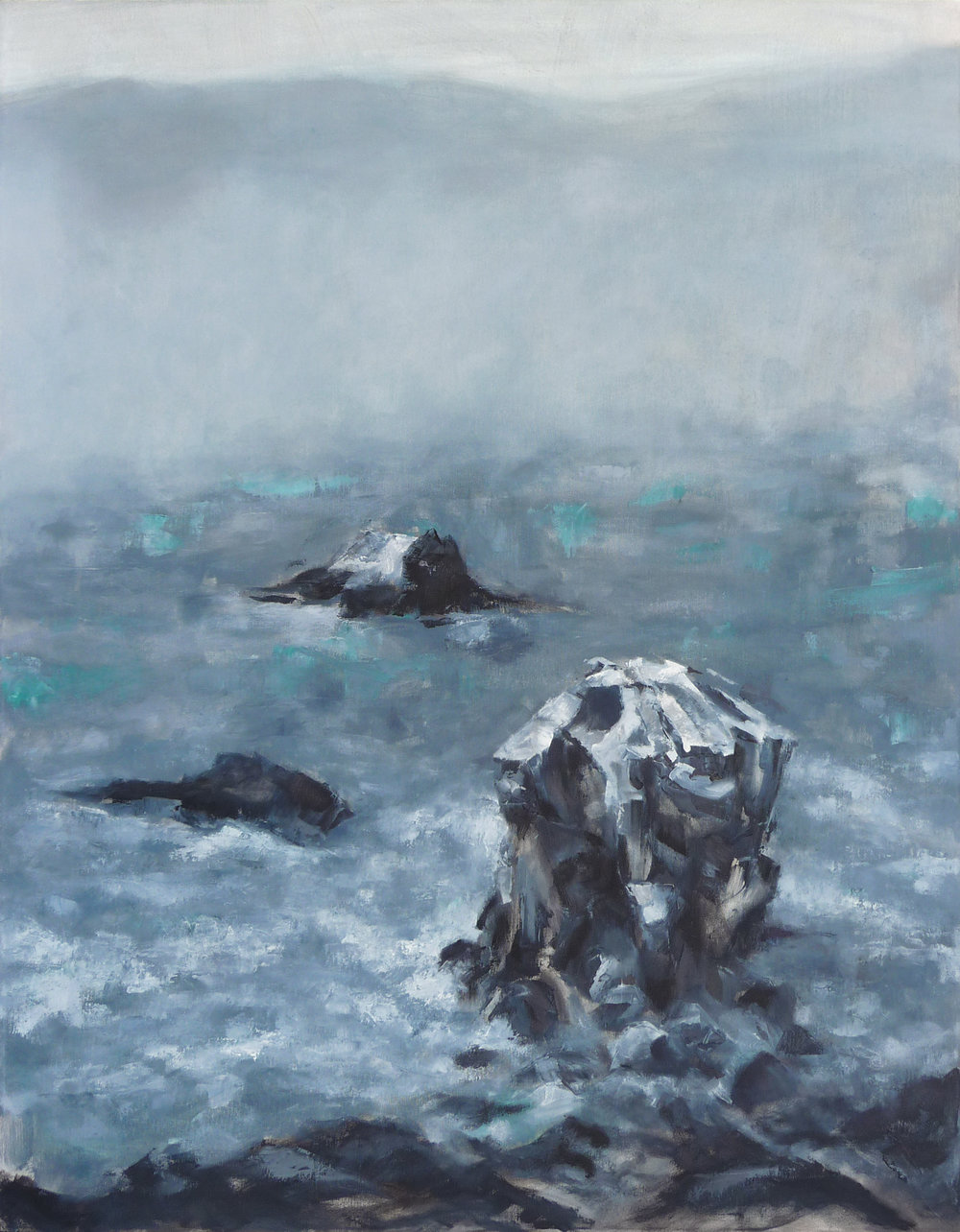 View from Land's End  , 2016. Oil on canvas. 46 x 36 inches (116.8 x 91.4 cm)