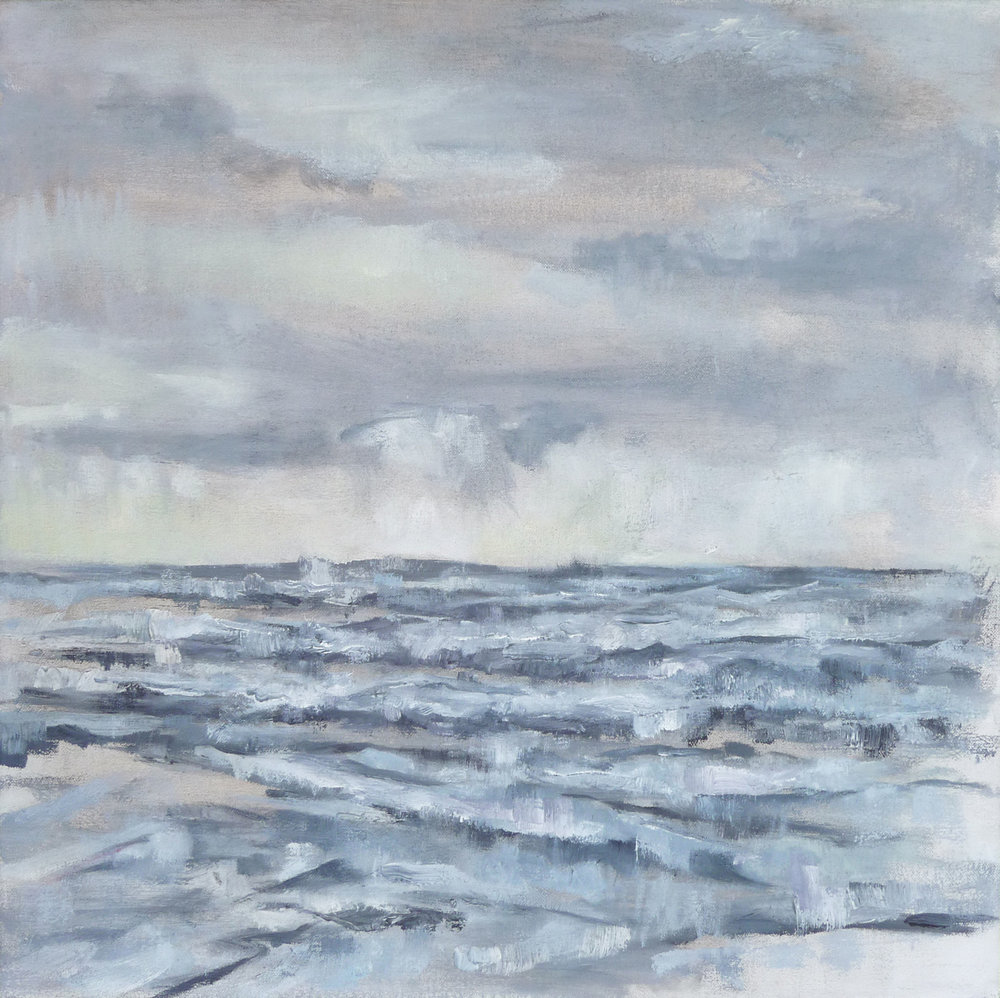 The Sea  , 2017. Oil on canvas. 18 x 18 inches (45.7 x 45.7 cm)
