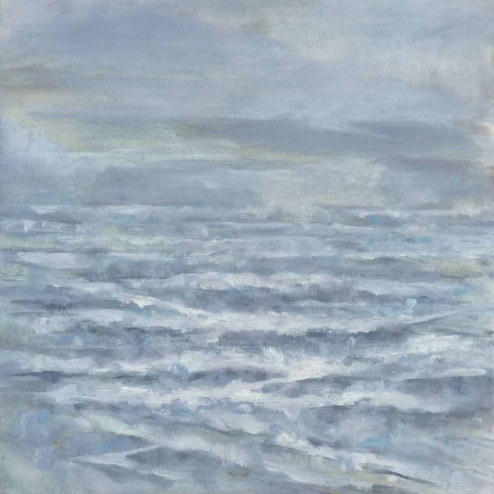 Lost Horizon  , 2017. Oil on canvas. 18 x 18 inches (45.7 x 45.7 cm)