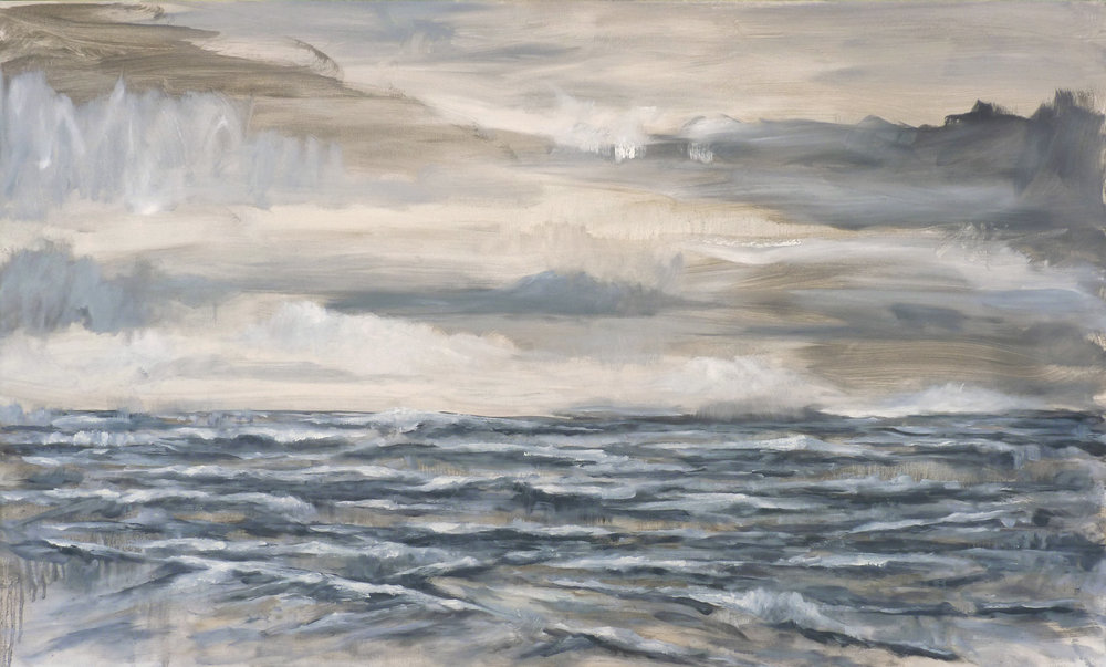 Northern Sea  , 2017. Oil on canvas. 36 x 60 inches (91.4 x 152.4 cm)