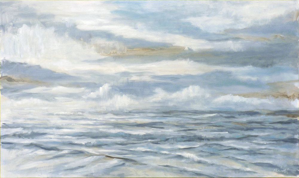 Seascape  , 2018. Oil on canvas. 36 x 60 inches (91.4 x 152.4 cm)