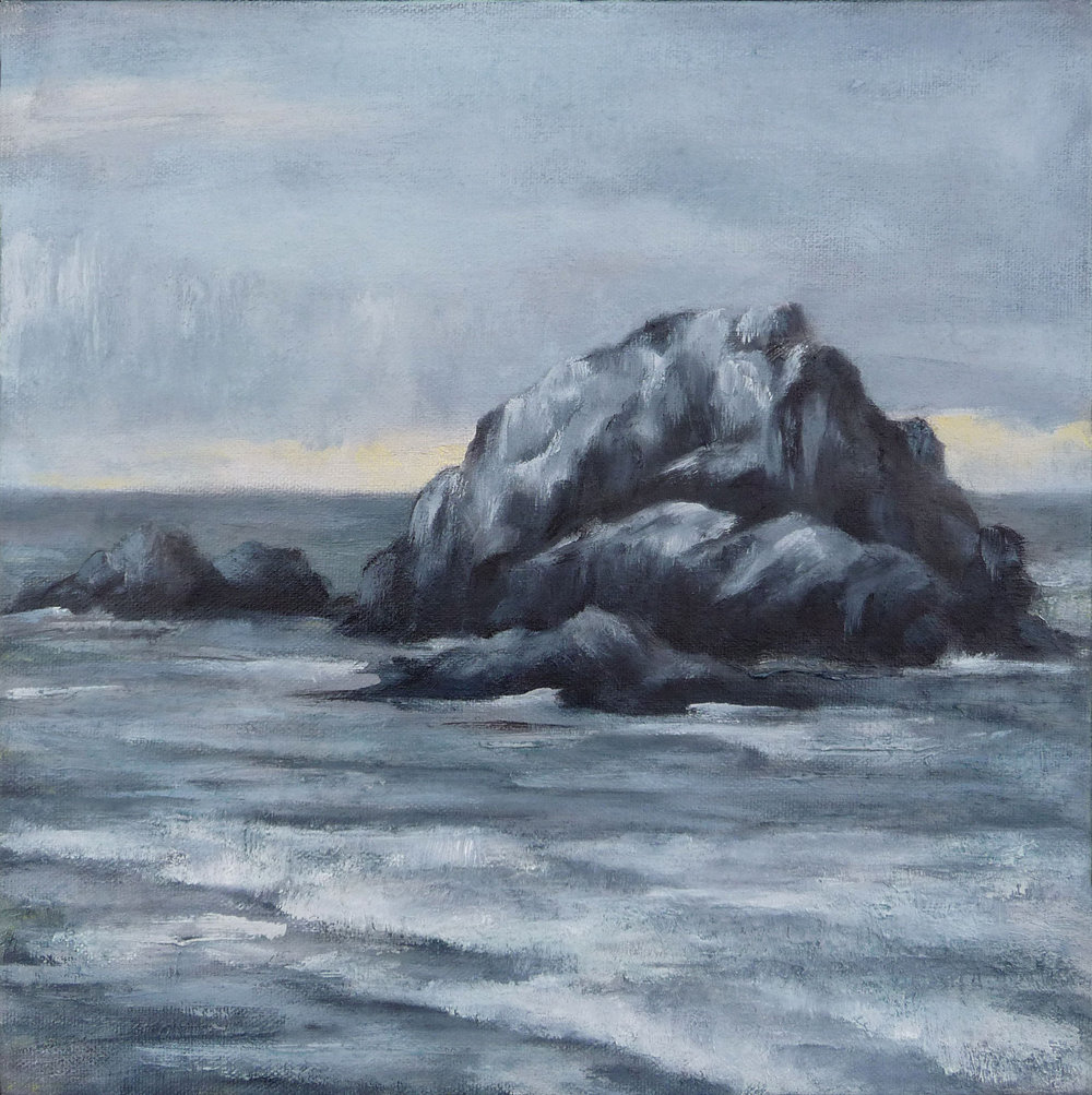 Seal Rock Study , 2018. Oil on canvas. 12x12 inches