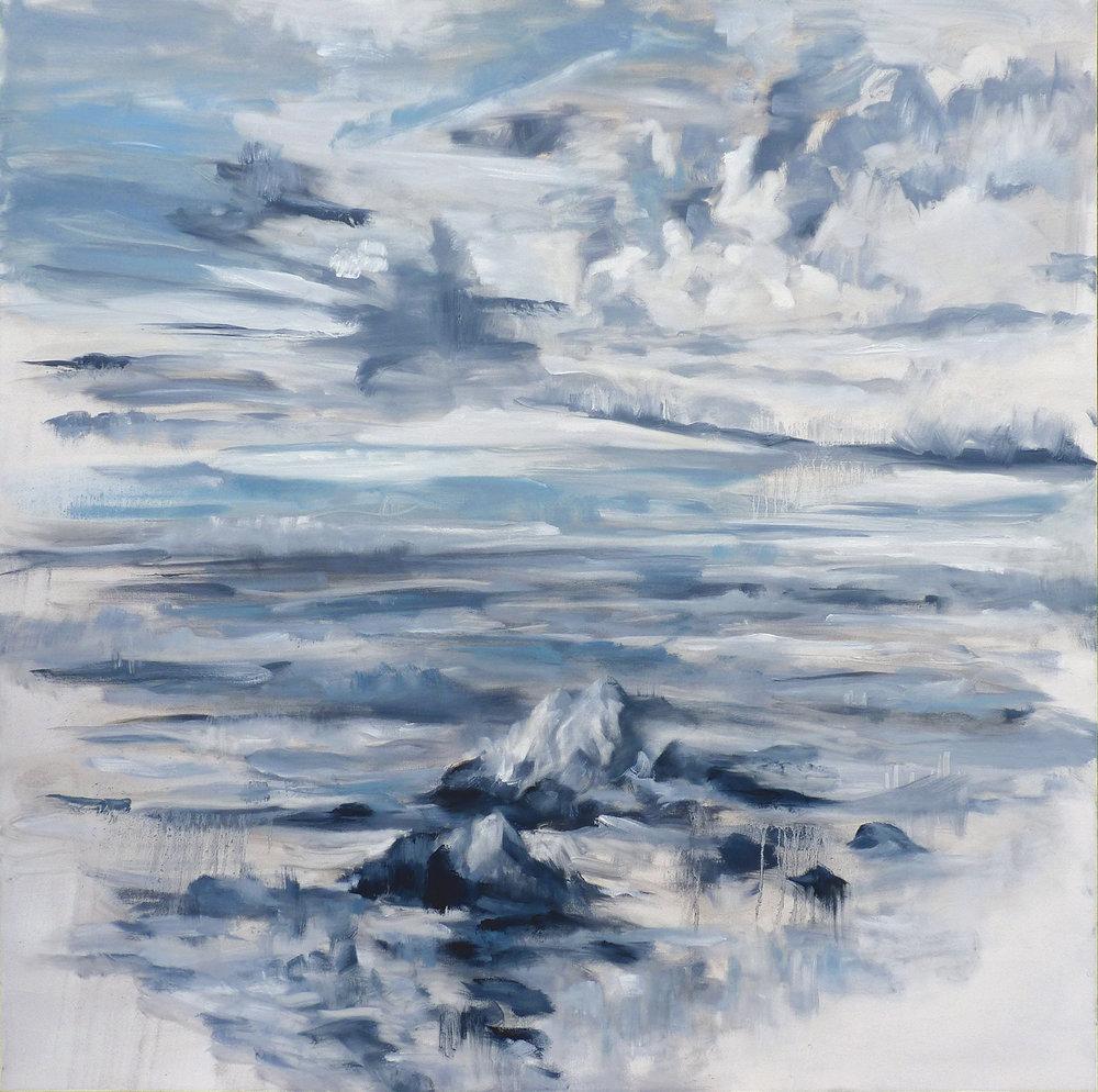 Dappled Sky  , 2019. Oil on canvas. 48 x 48 inches (121.9 x 121.9 cm)